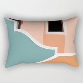 Mediterranean Moments - Architecture Series - 1 Rectangular Pillow