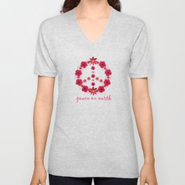 Peace on earth Unisex V-Neck