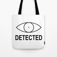 skyrim Tote Bags featuring Skyrim Detected by Komrod
