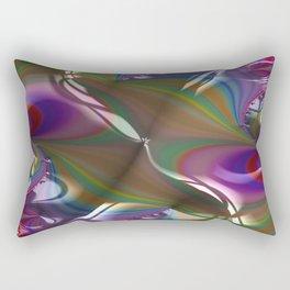 Engraved Flagship Fractal - Abstract Art Rectangular Pillow