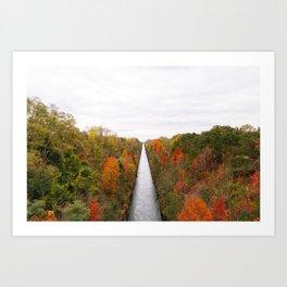 Fall Drive 002 Art Print