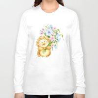 hedgehog Long Sleeve T-shirts featuring  Hedgehog by Daria Kotyk
