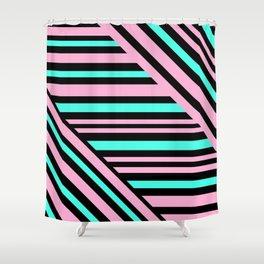 Geometric pattern. Striped triangles 5 Shower Curtain