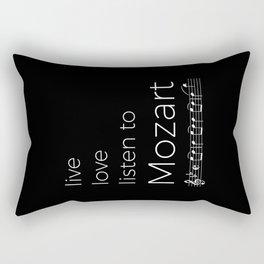 Live, love, listen to Mozart (dark colors) Rectangular Pillow