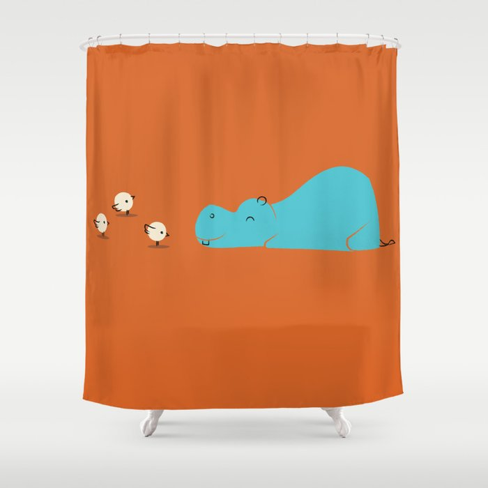 Hungry Hippo Shower Curtain