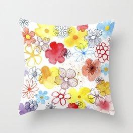 Summergarden Throw Pillow