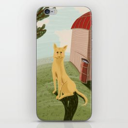 Yellow dog iPhone Skin