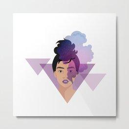 Fierce Woman - Galaxy Smoke Metal Print