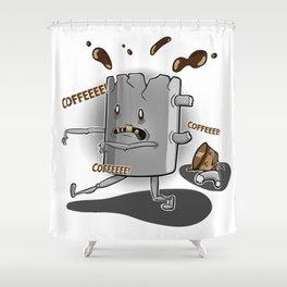 The walking mug Shower Curtain