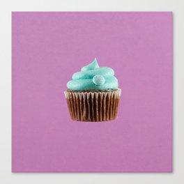 Cupcake Love | Mint Chocolate on Lavender Canvas Print