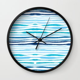 Watercolor abstract Sea waves Wall Clock
