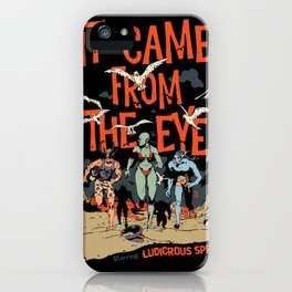 Pius Bak - It Came From the Eye iPhone Case