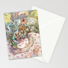 Playing Alone Stationery Cards