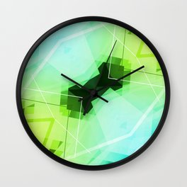 Revive - Geometric Abstract Art Wall Clock