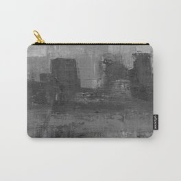 Paint Texture (Black and White) Carry-All Pouch