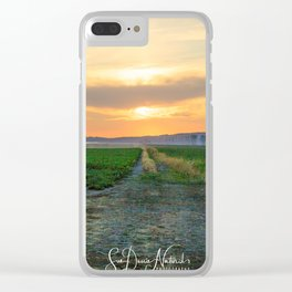 Farmers Sunset Clear iPhone Case