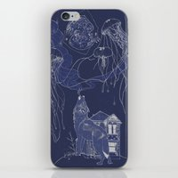 jelly fish iPhone & iPod Skins featuring Jelly Fish by Jessica Bowman Illustrates