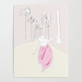 California Dreaming Girl Poster