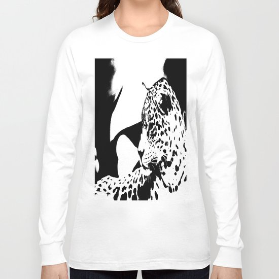 Black And White Wildcat  Long Sleeve T-shirt