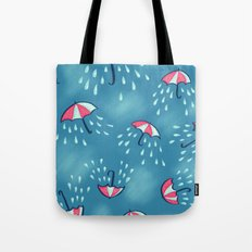 Raining Umbrella Pattern Tote Bag