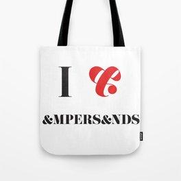 I heart Ampersands Tote Bag
