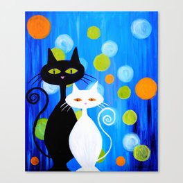 Fancy Cats Canvas Print