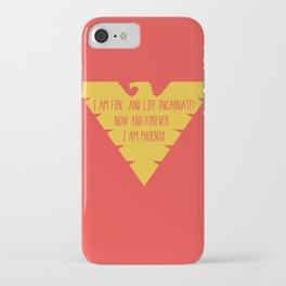 i am fire and life incarnate now and forever i am dark phoenix iPhone Case