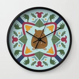 Mouse German Hex Folk Art Wall Clock