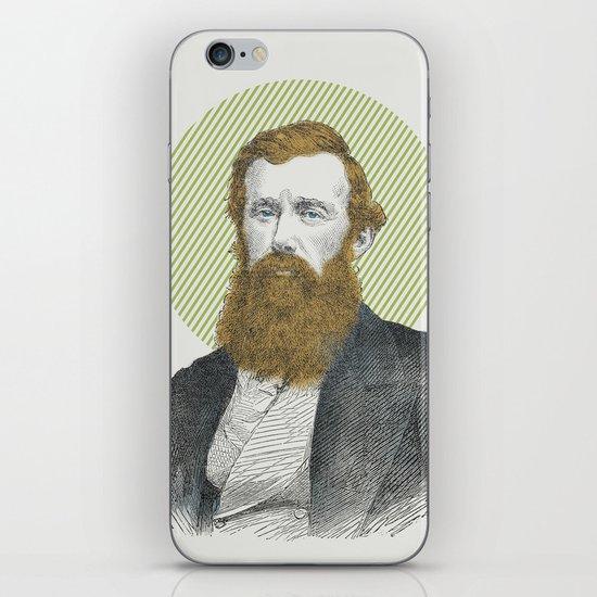 Blue Eyes, Red Beard, Gray Suit iPhone & iPod Skin