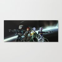 mass effect Canvas Prints featuring Mass Effect by ssst