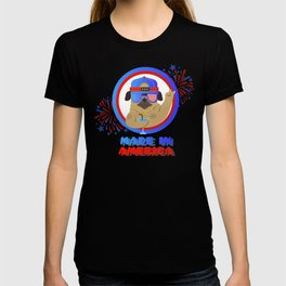 4th Of July - Happy Pug Made In America T-shirt