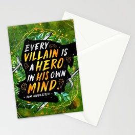 Every villain Stationery Cards