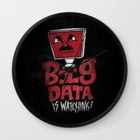 data Wall Clocks featuring Big Data is Watching by Chris Piascik