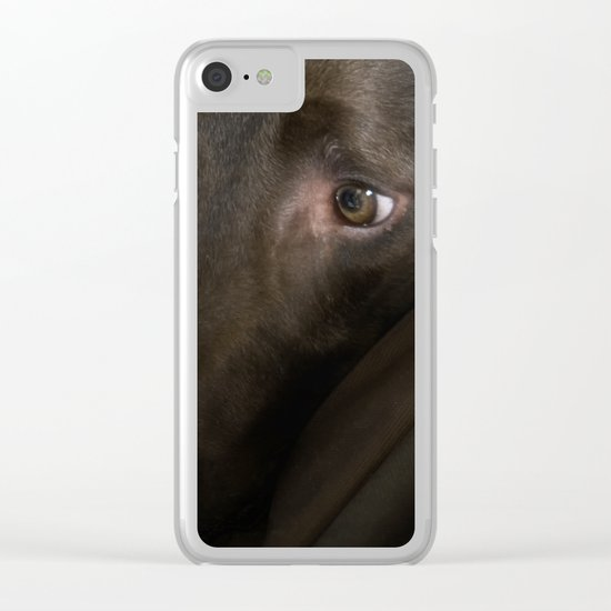 My Friend Chocolate Lab Clear iPhone Case