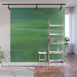 Abstract modern lime forest green stripes pattern Wall Mural
