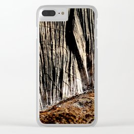 tree bark and wood Clear iPhone Case