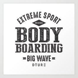 Bodyboarding Art Print