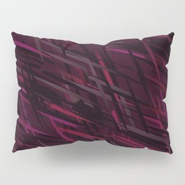 Diagonal Streaks Abstract in Ruby Red Pillow Sham