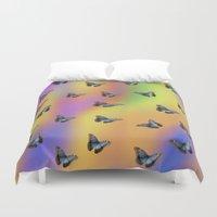butterflies Duvet Covers featuring Butterflies by Fine Art by Rina