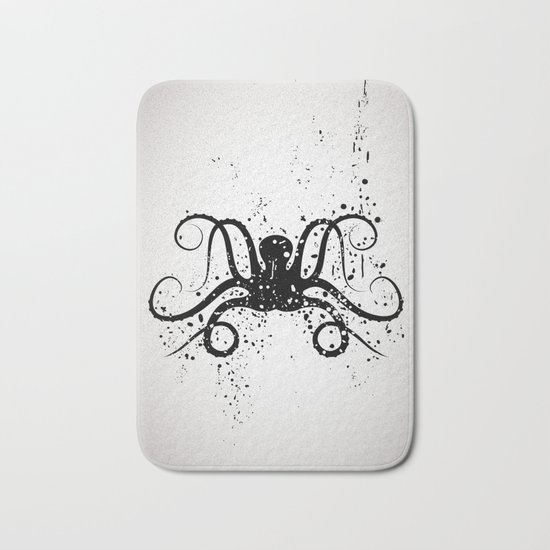 Octous black and white Bath Mat
