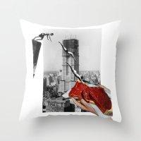 metropolis Throw Pillows featuring Metropolis by Lerson