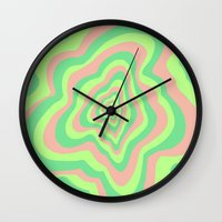 watermelon Wall Clocks featuring Watermelon by Popsicle Illusion