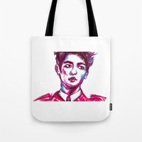 shinee Tote Bags featuring SHINee Minho Everybody by sophillustration