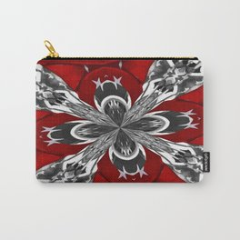 Red Black and White Kaleidoscope Carry-All Pouch