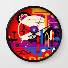 Vintage poster - Mars Wall Clock