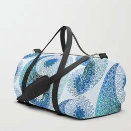 moon and sung (blue) Duffle Bag