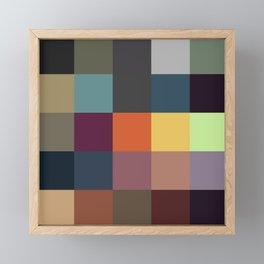 Pixel Patchwork Kappa Framed Mini Art Print