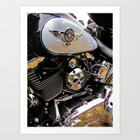 motorbike Art Prints featuring  Motorbike  by Scenic View Photography