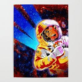 SPACE CHIMP Poster