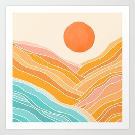 Adventure On The Horizon / Abstract Landscape Art Print